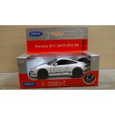 Модель автомобиля Porsche 911 GT3 RS белый (1/36)