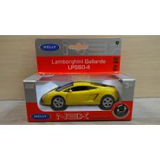 Модель автомобиля Lamborghini Gallardo желтая (1/38)