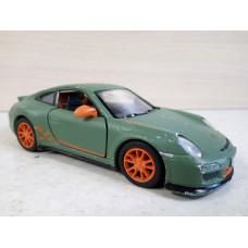 Модель автомобиля Porsche 911 GT3 зел. (1/36)