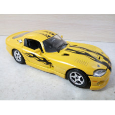 Модель автомобиля Dodge Viper желтый (1/24)