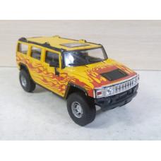 Модель автомобиля Hummer H2 желтый (1/43)