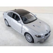 Модель автомобиля BMW M3 серебристая (1/36)