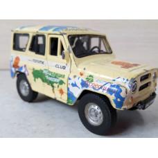 Модель автомобиля УАЗ экстрим (1/36)