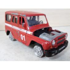 Модель автомобиля УАЗ пожарка №1 (1/36)