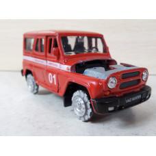 Модель автомобиля УАЗ пожарка №2 (1/36)
