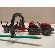 Модель автомобиля трактора с прицепом и манипулятором (1/50)